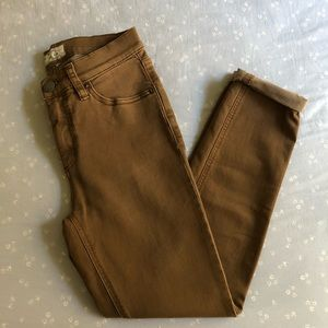 Free People Brown Roller Skinny Jeans